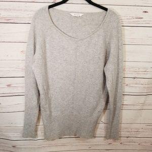 Athleta 100% Cashmere Sweater Small Grey